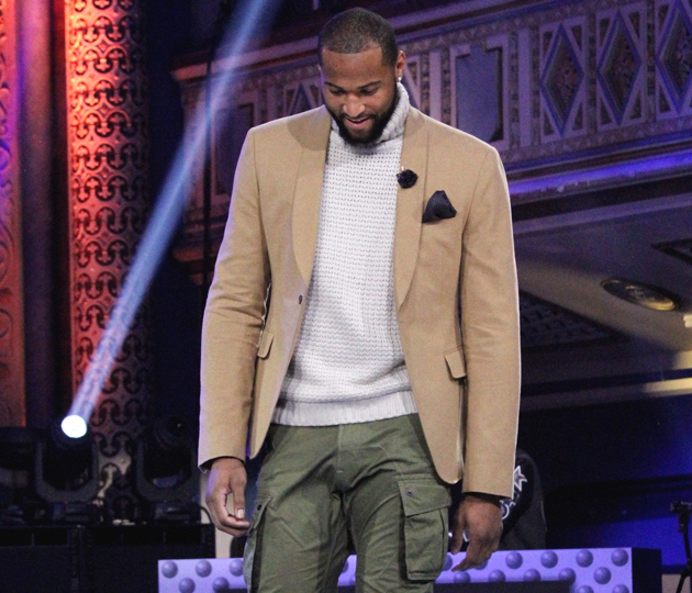 DeMarcus Cousins walked the runway at the All-Star fashion show.