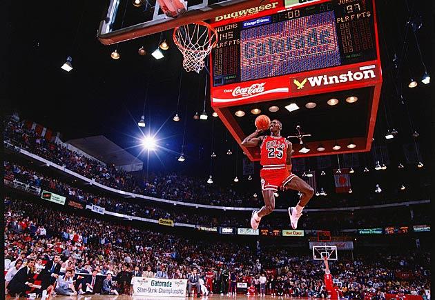 Michael Jordan dunk contest 1988