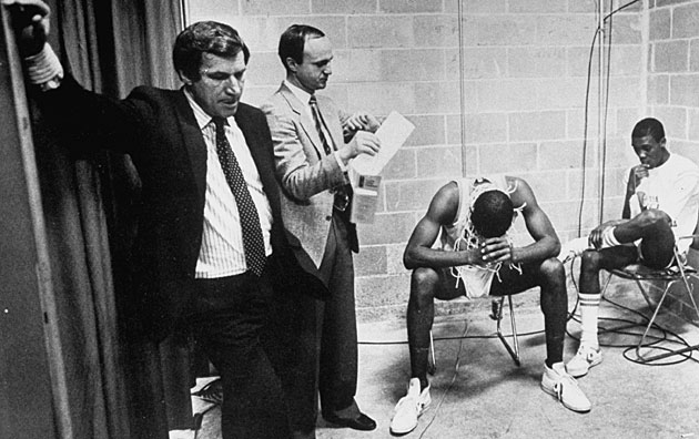 Dean Smith, Rick Brewer, James Worthy, Jimmy Black, North Carolina Tar Heels