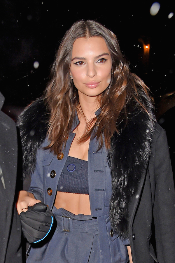 Emily Ratajkowski new york fashion week