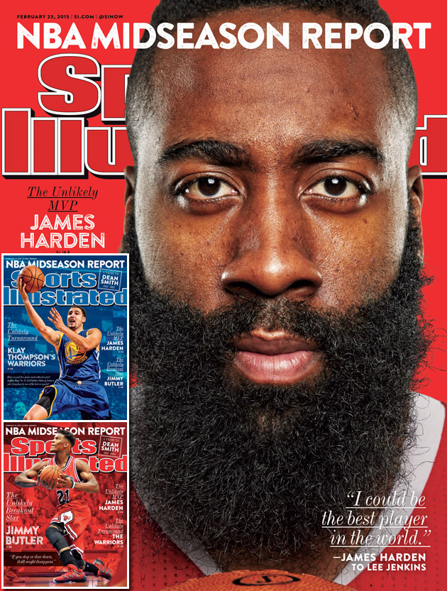 James Harden on the cover of SI