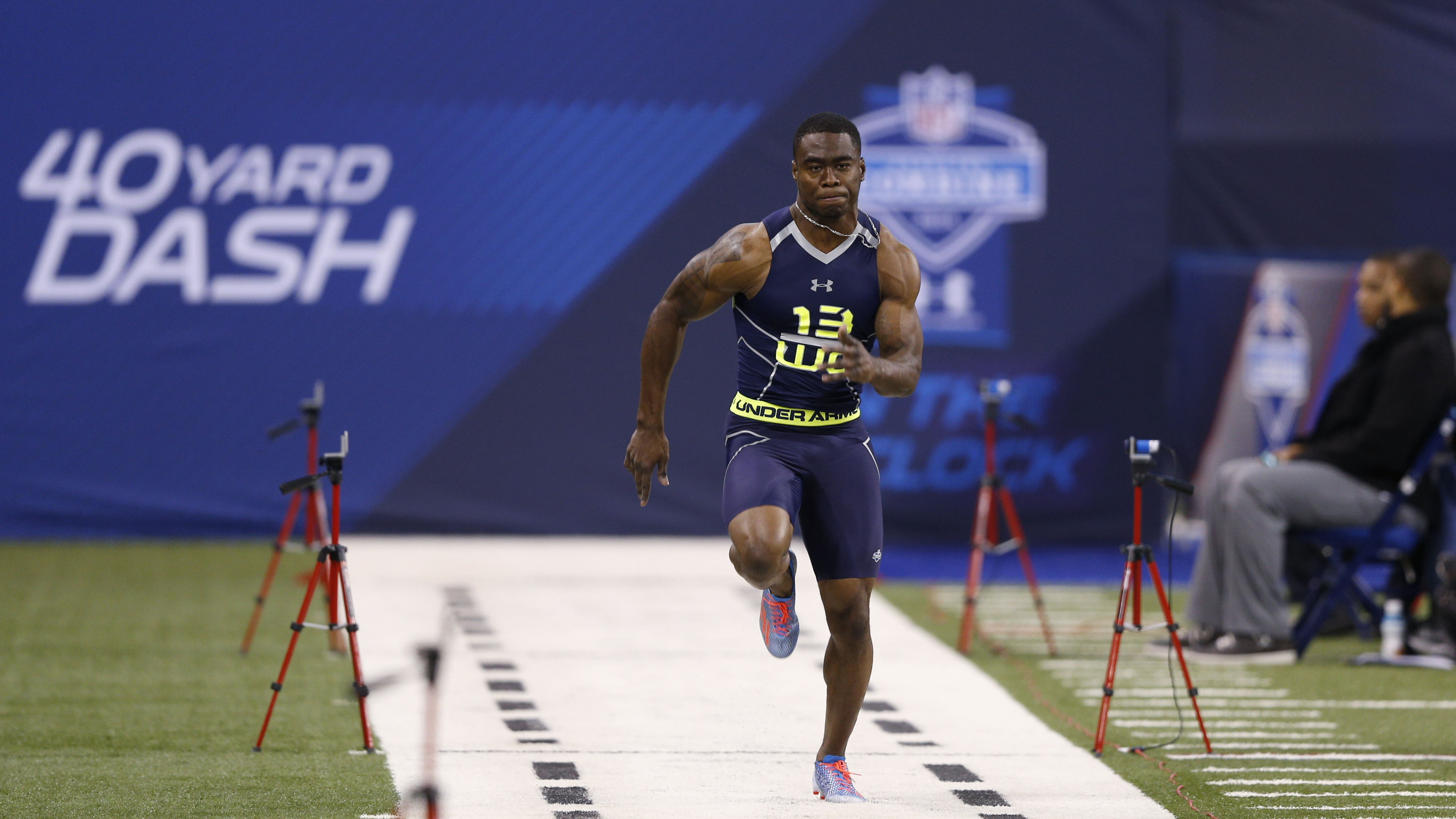 Brandin Cooks ran the fastest 40-yard dash at the 2014 combine.