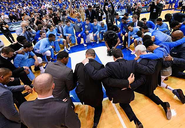 Duke vs. UNC pregame ceremony