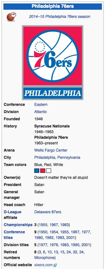76ers wikipedia
