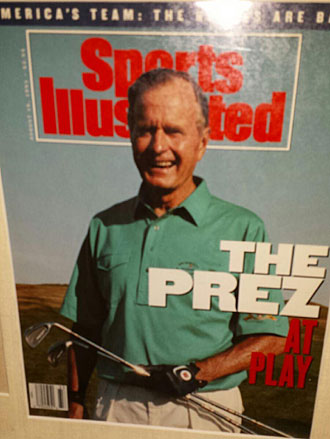 The president was sent a copy of this cover, which was pulled when John Daly won the PGA Championship.