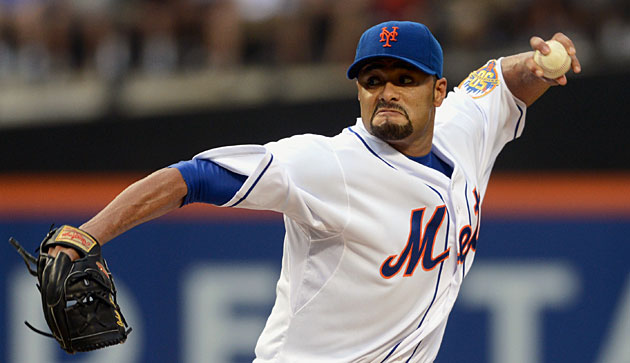 Johan Santana hasn't pitched in the majors since 2012 and hasn't made 30 starts since 2008.
