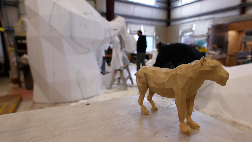 Katy Perry foam lion replica