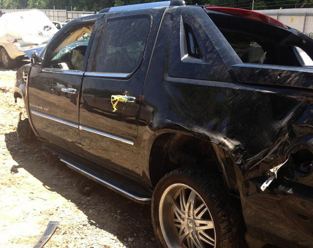 Mookie Blaylock's car avoided serious damage in the fatal accident.