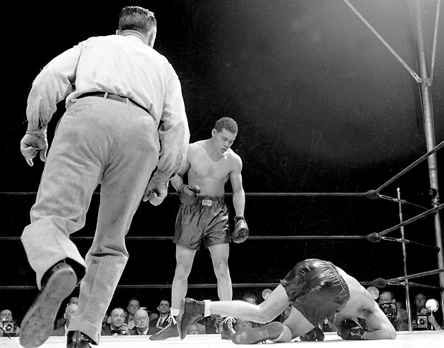 Billy Conn and Joe Louis