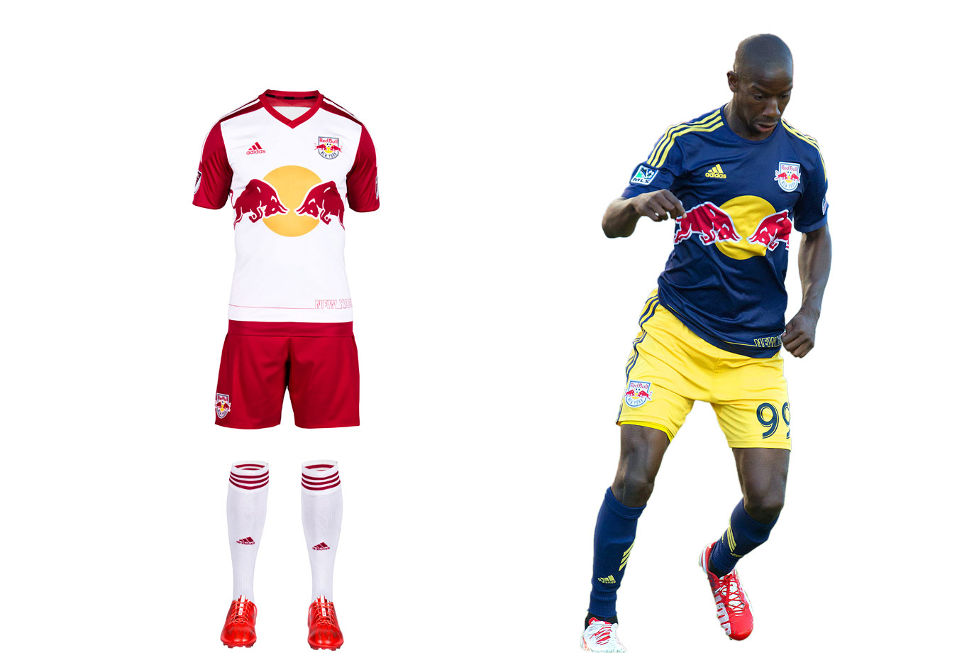 "The Red Bulls have company in New York so have set out to reinforce their tenuous connection to the market within the constraints of the club's corporate brand. The only white-red-white team in the league, RBNY now must compete with NYCFC's pale blue. The Red Bulls' new home set doubles down on that contrast with red sleeves and ""NEW YORK"" emblazoned on the shirt's lower left in a manner ""mimicking the iconic New York skyline."" The ""EST.1996"" on the back collar reminds fans who was there (or nearby) first. The holdover secondary definitely is unique and is great in reasonable doses."