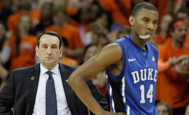 Mike Krzyzewski (left) dismissed Rasheed Sulaimon from the Duke program on Jan. 29.