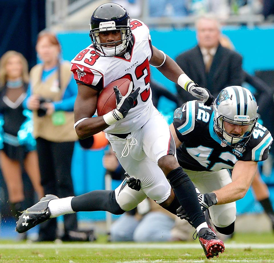 WR  Old team: Falcons; New team: