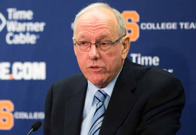 Syracuse coach Jim Boeheim