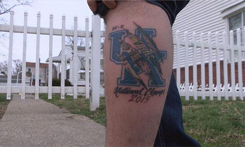 Kentucky basketball tattoo 2015 champs