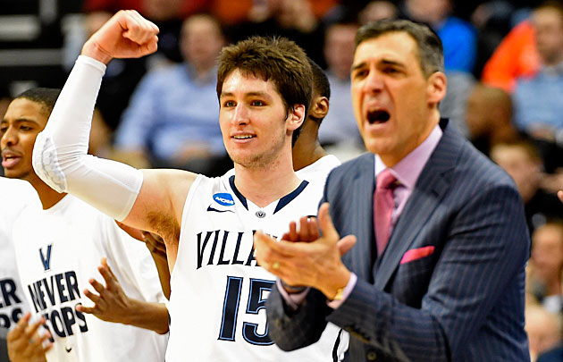 Ryan Arcidiacono (left) will be trying to help Jay Wright get back to the Sweet 16 for the first time in six years.