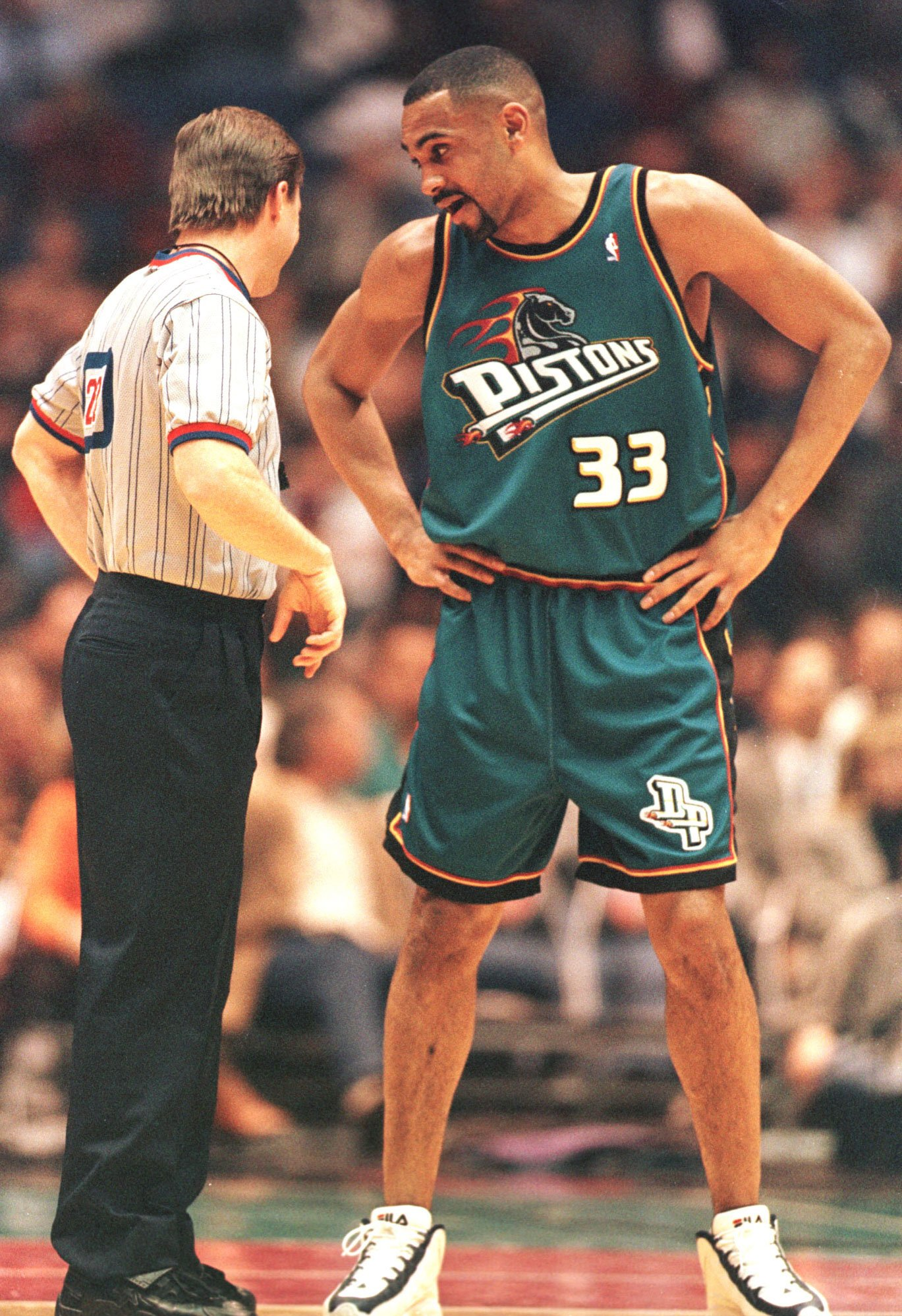 The Detroit Pistons had a great logo, and this particular jersey looked great in white. And while the red version wasn't very appealing, it didn't compare to this eye sore in teal.