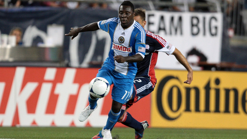 Freddy Adu, pictured above with the Philadelphia Union in 2012, is on the 11th team of his career after joining KuPS in Finland.