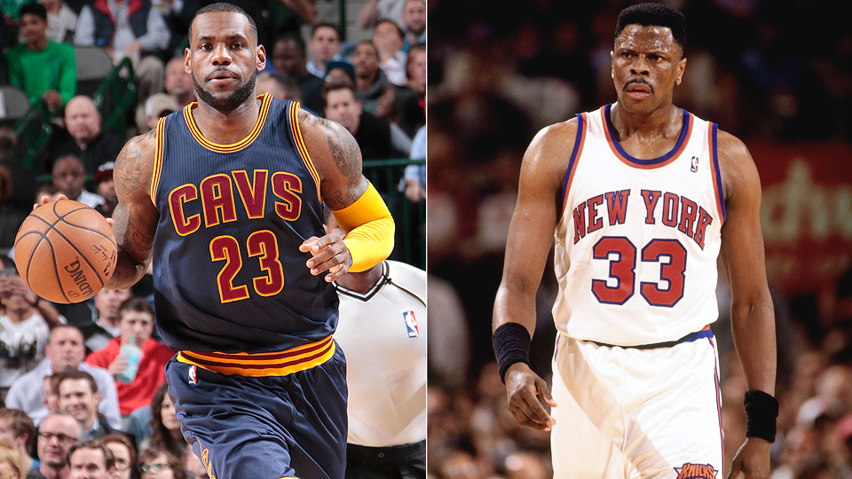 LeBron James passed former Knicks center Patrick Ewing for 20th NBA scoring list.