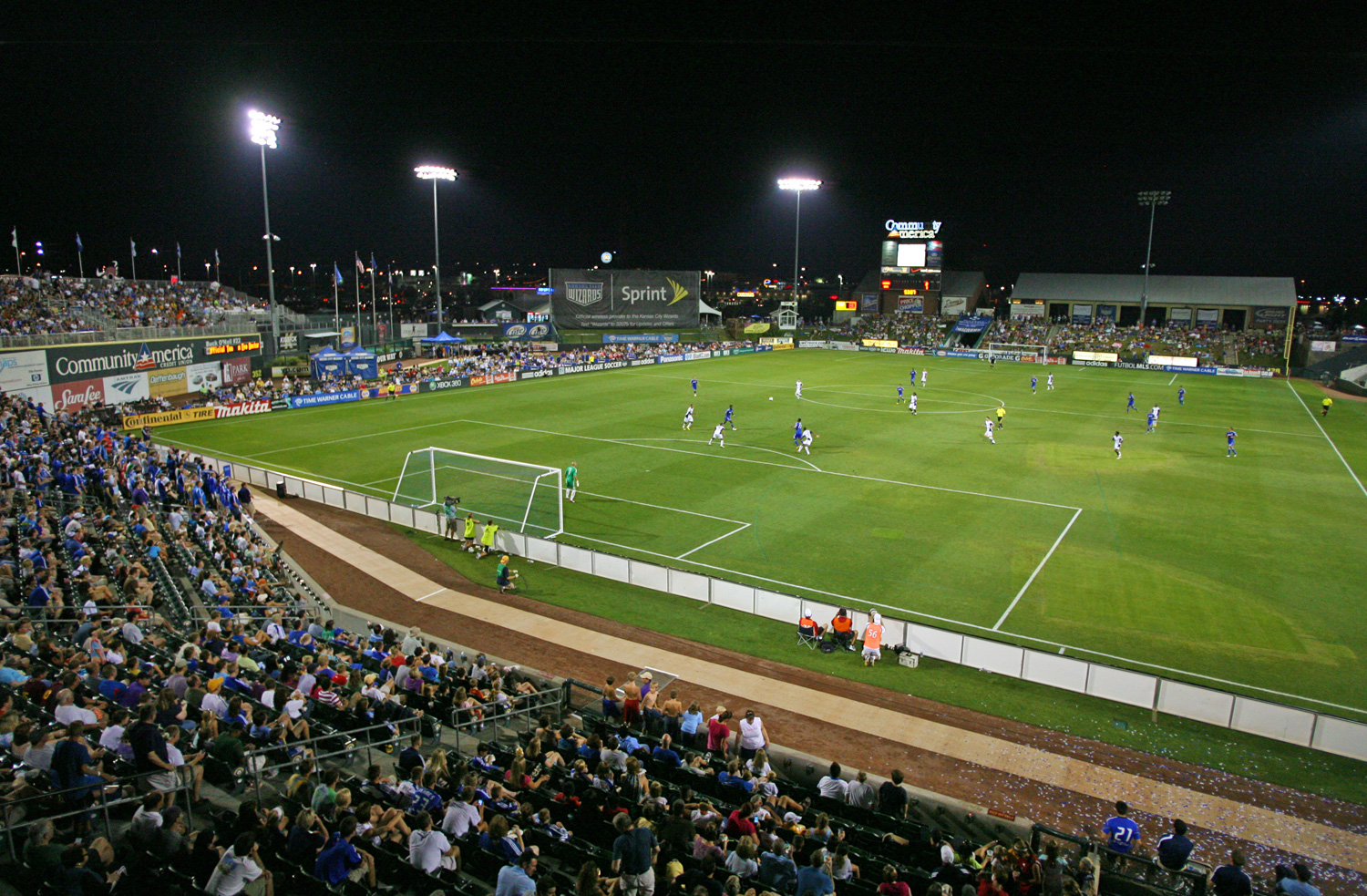 Before the club's rebrand to Sporting Kansas City, the Kansas City Wizards played the 2008-2010 seasons at CommunityAmerica Ballpark, the everyday home of the minor league Kansas City T-Bones.