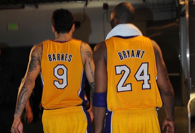 Matt Barnes; Kobe Bryant