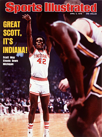 Scott May had 26 points as the Hoosiers beat Big Ten rival Michigan for the third time that season, in the title game.