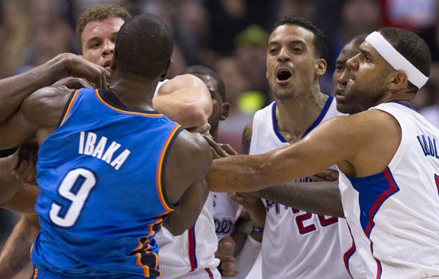 Matt Barnes Clippers Lakers fight