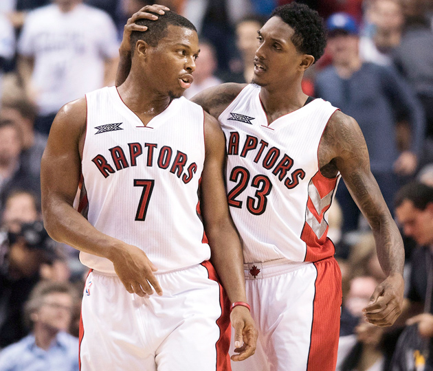Kyle Lowry and Lou Williams lead the Raptors against the Wizards.