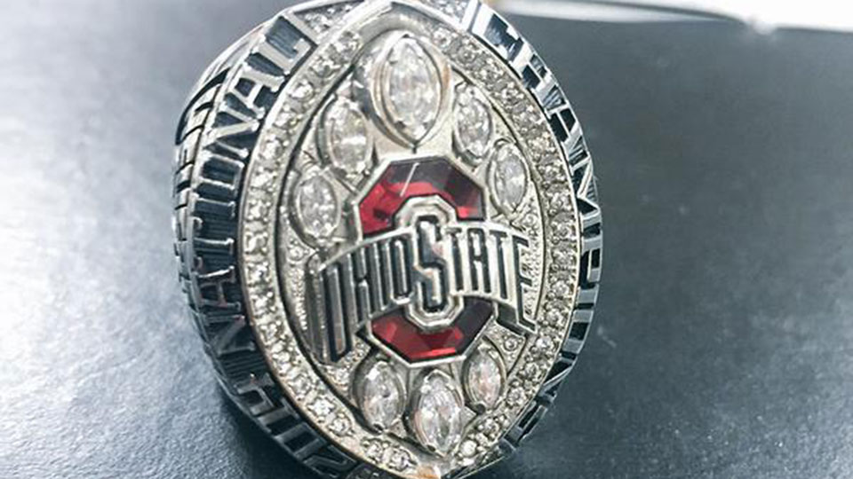 Ohio State Football Photo Of National Championship Rings Si