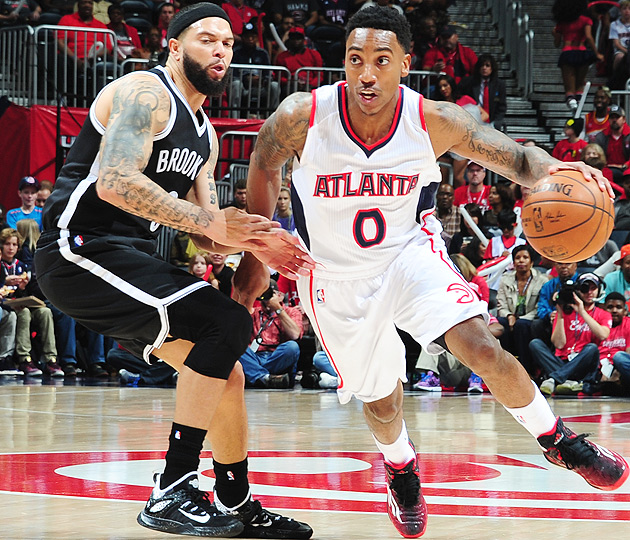 Jeff Teague scored 17 points in the Hawks' Game 1 victory over the Nets.