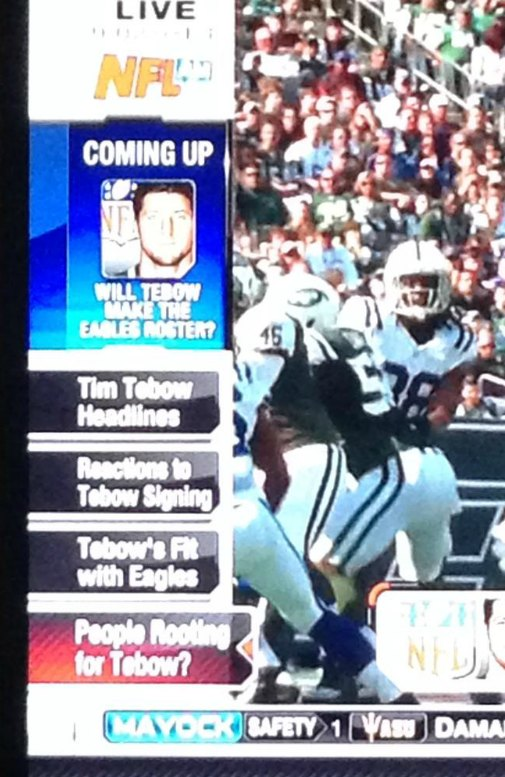 NFL Network likes Tim Tebow