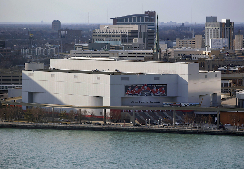 Joe Louis Arena, the current home of the Detroit Red Wings.