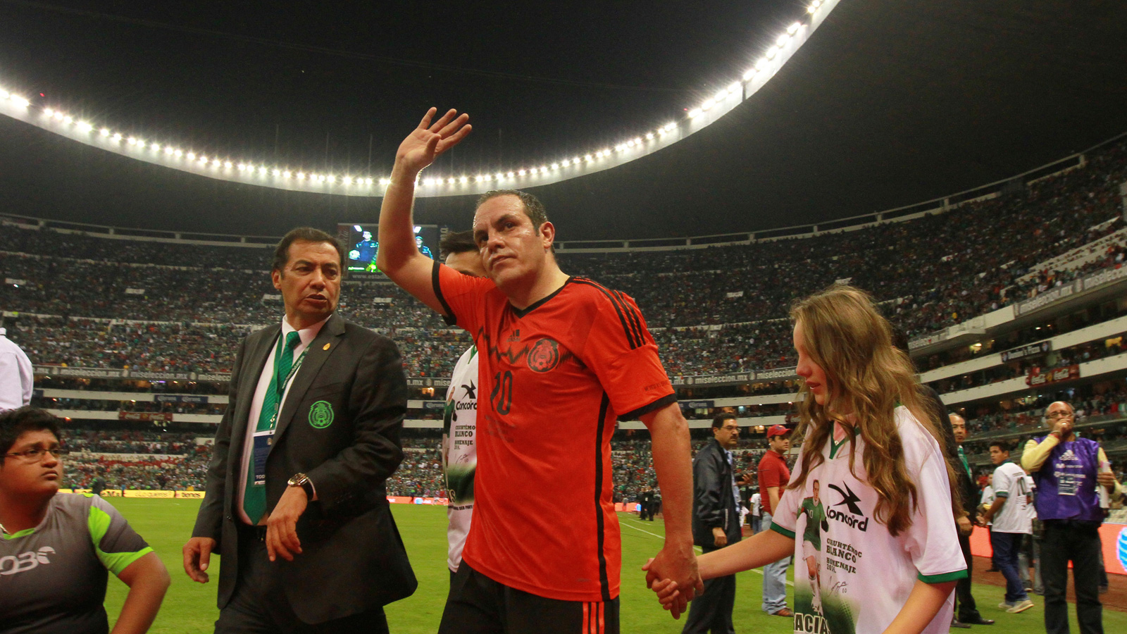 Blanco plays his final match for Mexico at Estadio Azteca in a friendly against Israel on May 28, 2014.