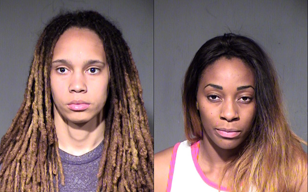 Brittney Griner and Gloria Johnson were arrested.