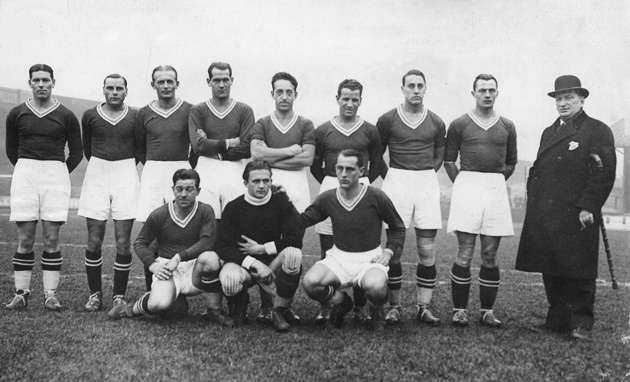 The Austrian national team, pictured in 1932.