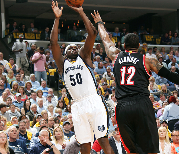 Zach Randolph, Grizzlies advanced to the second round following a Game 5 win over Trail Blazers.