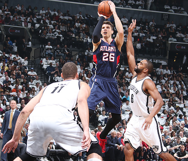 Kyle Korver, Hawks advanced to the Eastern Conference semifinals.