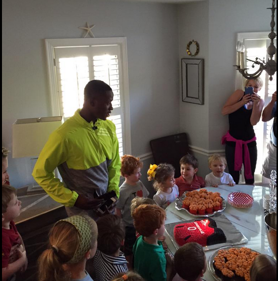 Louisville Terry Rozier surprises boy birthday party