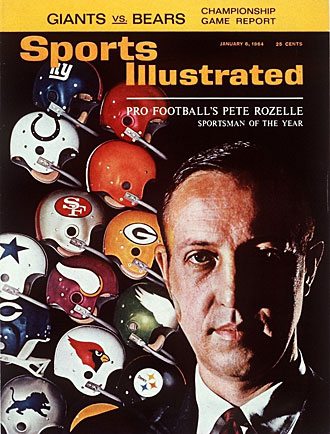 For helping bring the NFL to new heights and for his handling of the gambling issue, Pete Rozelle was named SI's Sportsman of the Year for 1963.