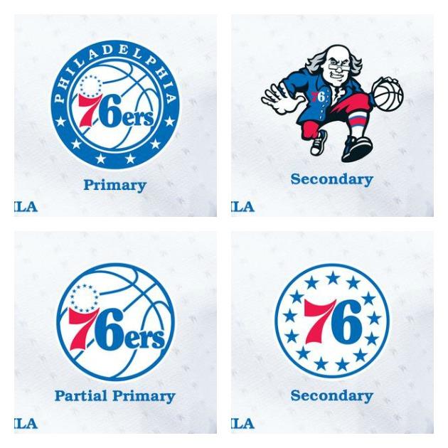 Philadelphia 76ers logo collage