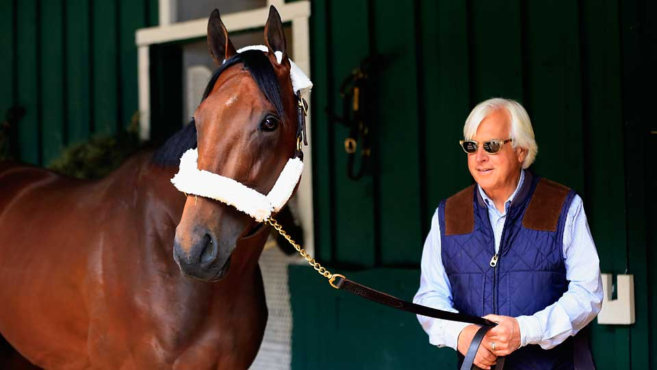 Trainer Bob Baffert's American Pharoah is the betting favorite for the Preakness Stakes.