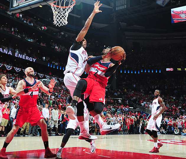 John Wall returned from a fractured hand in Washington Wizards' Game 5 loss to Atlanta Hawks.