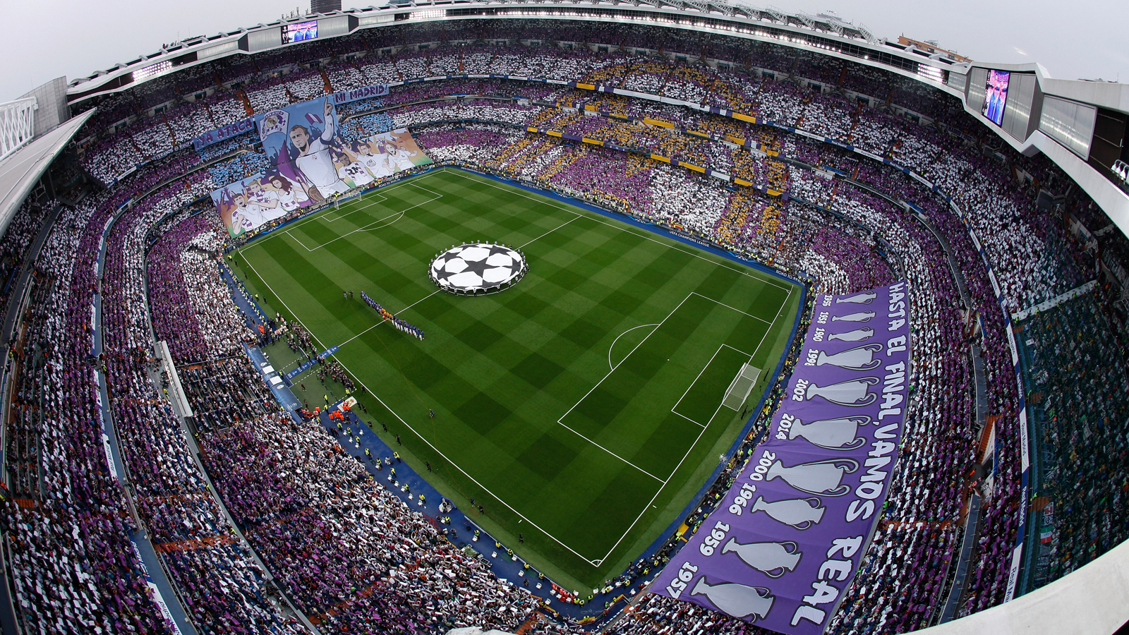 Real Madrid fans went all out prior to the second leg of the 2014-15 Champions League semifinal vs. Juventus.