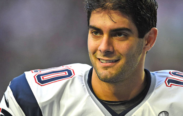 jimmy garoppolo patriots quarterback brady