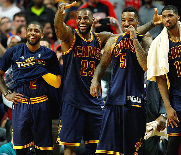 LeBron James, Cleveland Cavaliers advanced to their first conference finals since 2009.