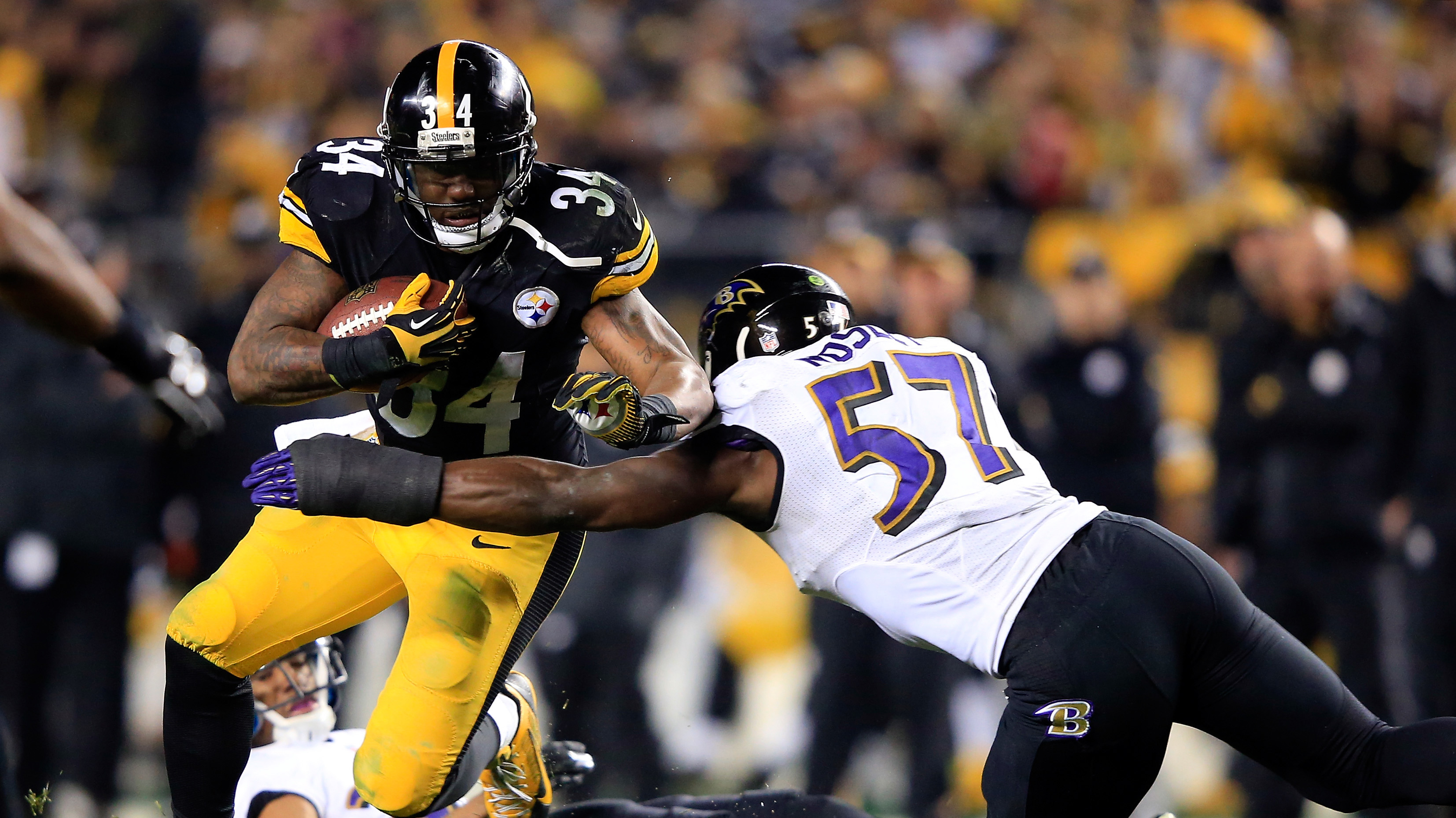 Ben Tate played for the Steelers in the playoffs last season.