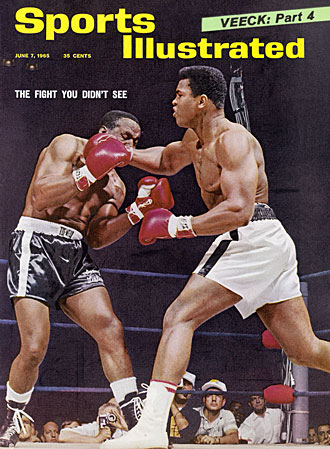 Muhammad Ali and Sonny Liston