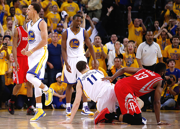 James Harden, Houston Rockets lost Game 2 to Golden State Warriors on last possession.