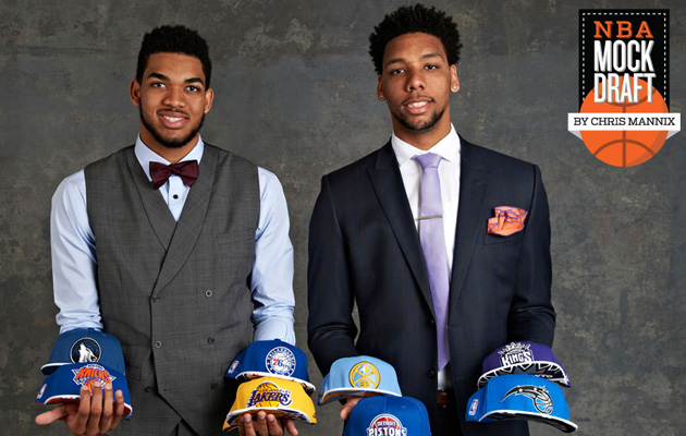 nba mock draft okafor towns