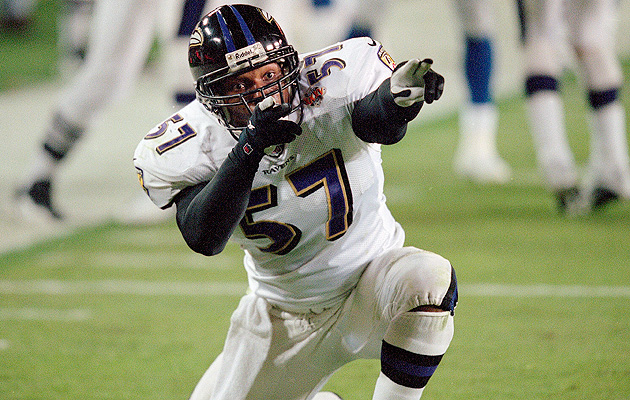 Ravens linebacker O.J. Brigance during Super Bowl XXXV