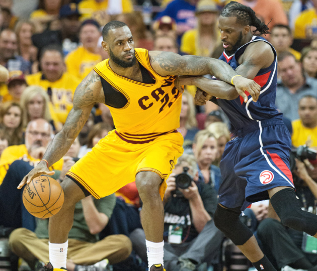 LeBron James recorded a triple double in the Cavaliers' 114–111 Game 3 OT win over the Hawks.